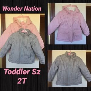 Wonder Nation Toddler 2Layer Winter Coat Jacket 2T